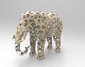 Elephant Voronoi 3D printable model