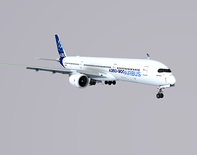 3D model low-poly Airbus A350-900 XWB