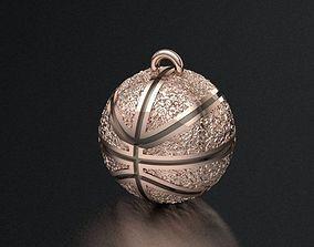 basketball pendant 3D print model