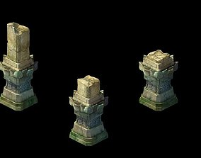 3D model Kashayana Buddha Forest Stone Magic Arrow 02