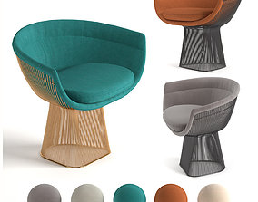 3D model Knoll Platner Lounge Chair