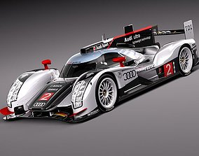 r-18 3D model Audi R18 2012 race car