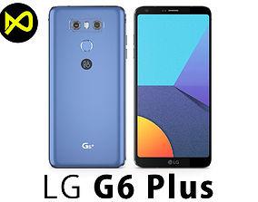 LG G6 Plus Blue 3D