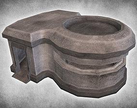 3D asset Concrete Bunker