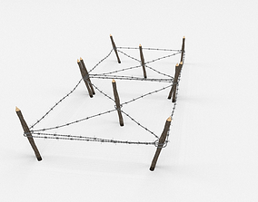 3D model blend Barb Wire Obstacle