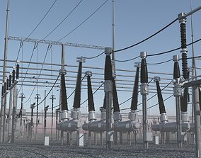 110KV to 60KV step-down Substation 3D