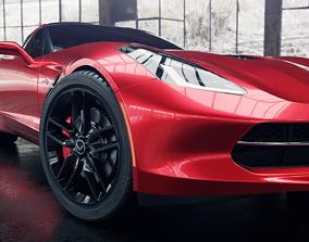 3D model 3dmodelling Chevrolet Corvette Stingray
