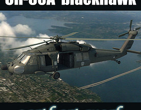 UH60A blackhawk helicopter 3D