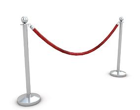 Red Velvet Rope 3D model