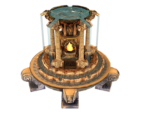 Fountain 3D asset low-poly