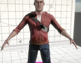 3D model Survivor Jonathan Unity 5 BPR