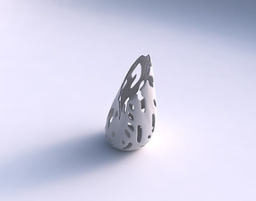 3D printable model Vase Flame twisted with smooth cuts