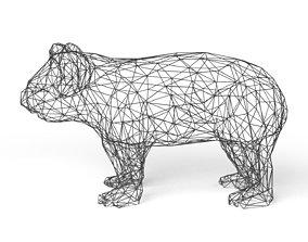3D asset Koala Wireframe