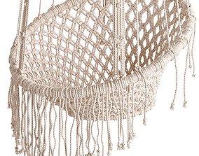 Macrame Hanging Chair 3D