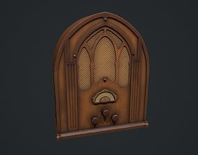 Antique Table Top Cathedral Radio 3D model