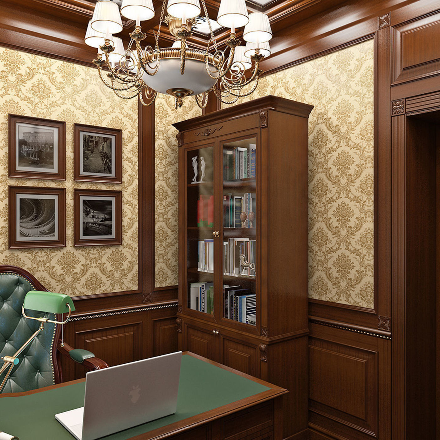Classic office in the apartment