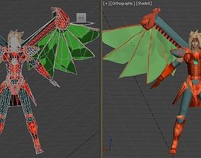 VR / AR ready Dart dragoon VR - AR - low-poly 3D model