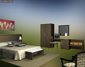 3D asset Hotel Room Set 02