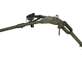 3D model Tripod - M2 Browning Machine Gun Low Poly