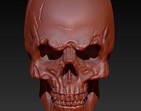 3D human skull badass