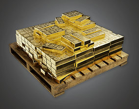 BHE - Bank Gold Stack - PBR Game Ready 3D model