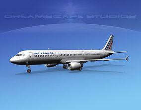 Airbus A321 Air France 3D rigged
