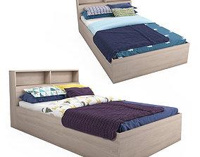 3D model PBR Single bed Hoff - Morena