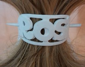 ROSI Personalized Oval Hair Stick Barrete 3D print model