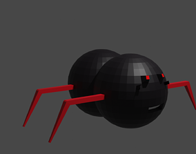 spider 3d model animated game-ready creatures