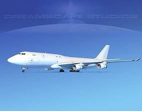 Boeing 747-8 Freighter Unmarked 3D