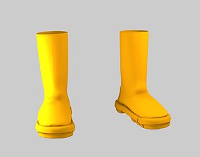 3D model Rain Boots in Yellow Color