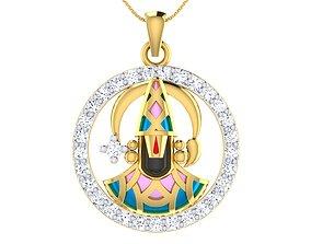 3D printable model 002 The Balaji - Religious gold pendant
