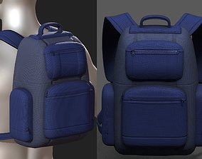 Backpack Camping Generic military Black baggage 3D