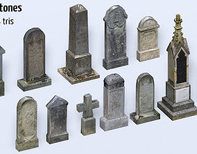 3D model Old Cemetery Pack