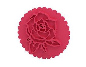 dining 3D printable model Cookie stamp Stamp