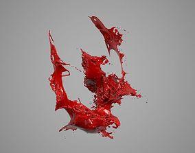 3D Liquid Alphabet W
