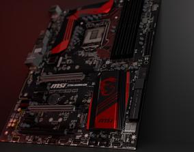 Motherboard Msi z170a 3D model