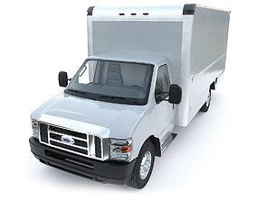 FORD E350 Cargo Box Truck 3D
