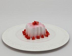 3D Pannacotta pudding