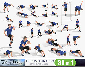 3D asset Exercise Animations Bundle