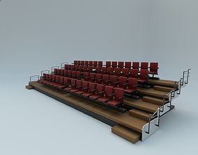 Auditorium chairs 3D model