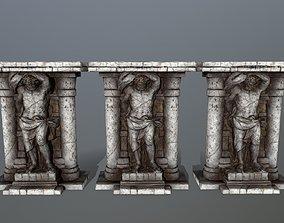 pompee statue 2 3D model VR / AR ready