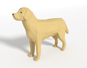 Low Poly Cartoon Labrador 3D model