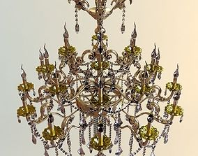 Detailed Chandelier 4 3D