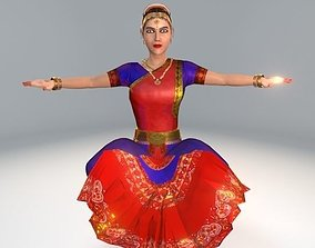 Bharatanatyam Dancer Female Rigged 3D model