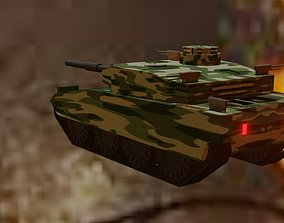 military tanker 3D asset
