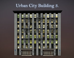 3D asset Urban City Building 3