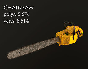 Chainsaw lowpoly 3D asset