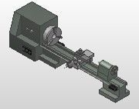 Long Lathe 3D model