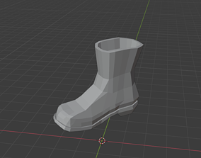 3D printable model Simple Low-Poly Boot